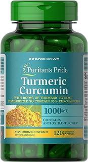 Puritan's Pride Turmeric Curcumin 1000 mg with Bioperine 5 mg-120 Capsules