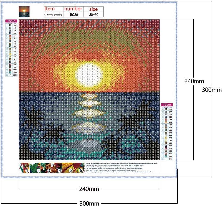 Demiawaking 5D DIY Diamond Painting Alba Kit Completo Paesaggi Pittura Diamante 5D Fai da Te Mestieri Pittura Mosaico Strass Pittura Trapano Completo Kit Punto Croce Decorazione 30x30cm