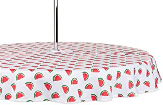 DII CAMZ11300 Spring & Summer Outdoor Tablecloth, Spill Proof and Waterproof with Zipper and Umbrella Hole, Host Backyard ...