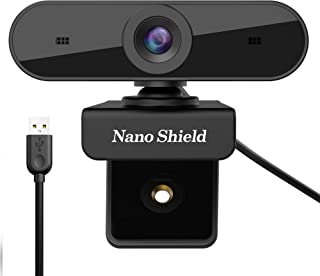 Webcam HD 1080P, Yarkor Web Camera with Noise Cancelling Microphone - USB Webcam for Laptop Desktop PC Mac Video Calling, Online Teaching, Conferencing or Gaming, Compatible with Windows 10, 8, 7, XP