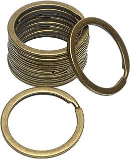 Shapenty 1.2 Inch Metal Flat Split Key Rings Chain Connector Circular Keyring Clip Loop Holder for Home Car Keys Organizat...