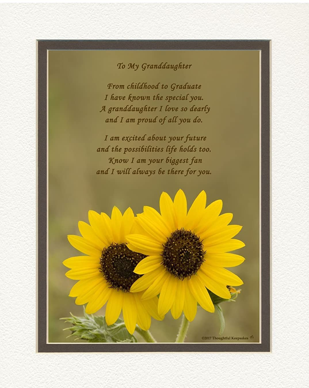 Granddaughter Graduation Gift, Sunflowers Photo with
