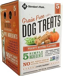 Member's Mark Grain Free Dog Treats, Peanut Butter Flavored (5 lb.) pack of 2