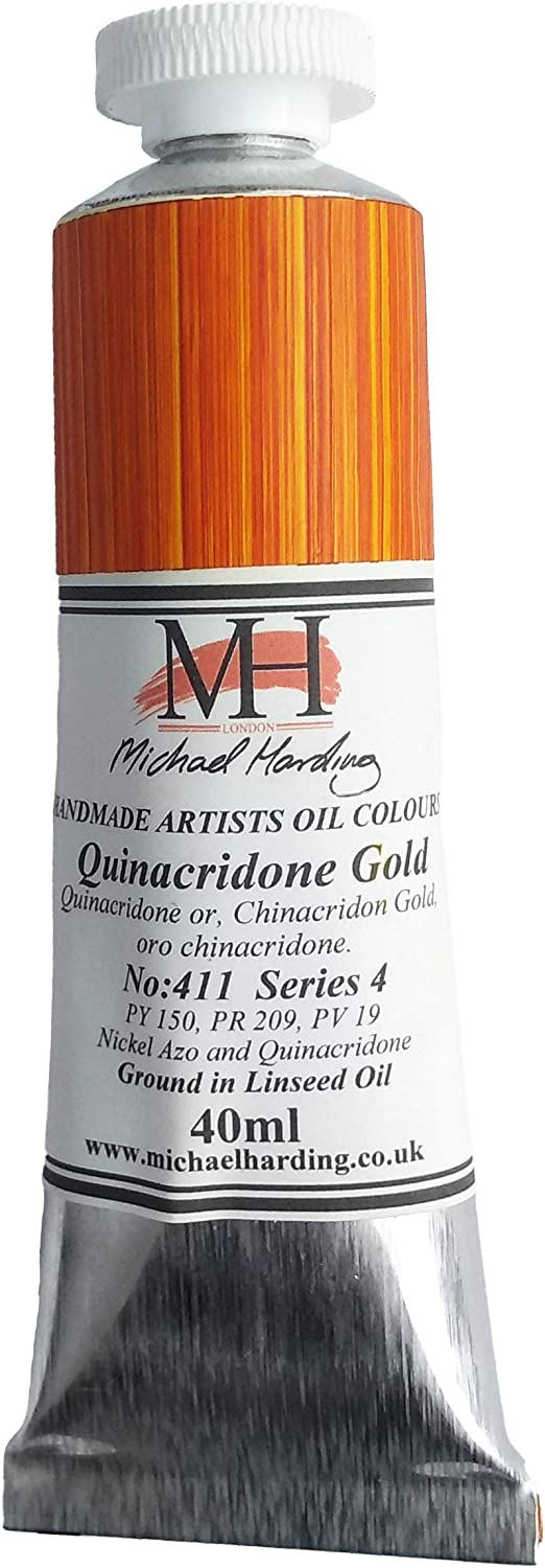 Michael Harding Free Shipping Cheap Max 87% OFF Bargain Gift Artist Oil Colours Tube 40ml Quinacridone Gold