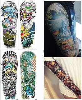 4 Piezas Falso Grande Brazo Completo Tatuajes Temporales ...