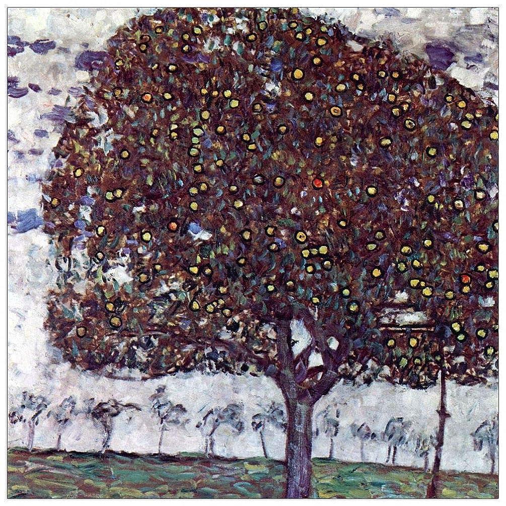 ArtPlaza TW90444 Klimt Gustav - The Apple Tree Decorative Panel 31.5x31.5 Inch Multicolored