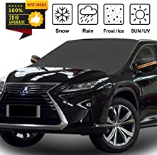 Car Windshield Snow Cover with Mirror Snow Covers, 4 Layers Material Protection Large Size 86