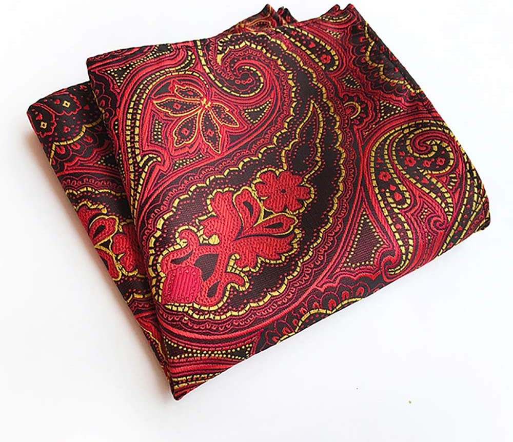 He-art Classic Paisley Pocket Squares for Man's Dresses Chest Decorative - Fashion Jacquard Woven Handkerchief Assorted Set 21 Pcs,10