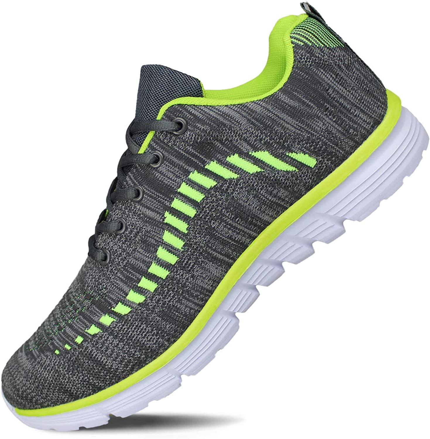 Hawkwell Men's Knit Running shoes Breathable Lightweight Athletic Tennis Walking Gym shoes