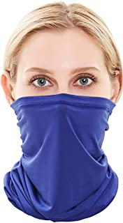 Self Pro Summer Face Mask Protection from Dust, UV & Aerosols - Washable Neck Gaiter Balaclava, Bandana Face Cover UPF50++