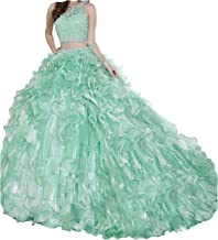 Yang Sweet Girls 15 16 Ball Gowns 3 Pieces Pageant Quinceanera Dresses