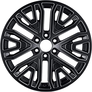 """Factory Wheel Replacement New 22 Inch 22"""" 22x9 Premium Black and Machined Aluminum Alloy Wheel Rim for 2019 2020 Chevrolet..."""