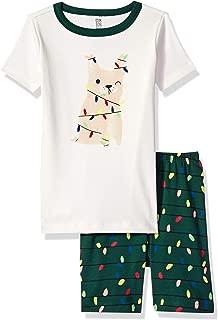 Boys' Big 2-Piece Tight Fit Sleeve Short Bottoms Pajama Set