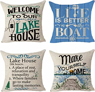 Park Designs Welcome To The Lake Decorative Throw Pillow