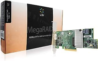 LSI MegaRAID SAS 9361-4i 4-Port 12Gb/s SAS+SATA PCI-Express 3.0 Low Profile RAID Controller, Single