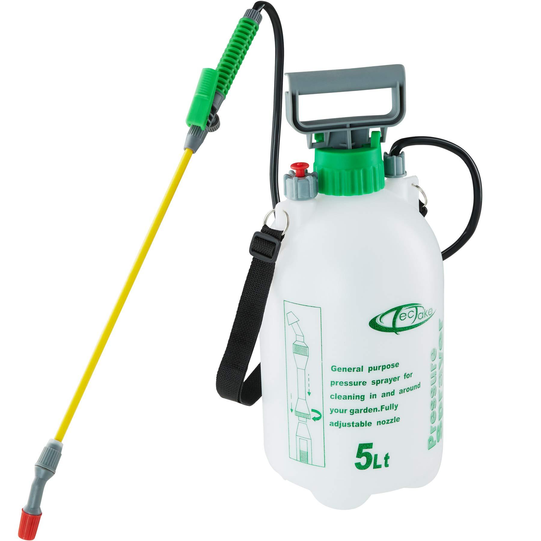TecTake 402574 - Pulverizador a presión 5 litros, Rociador a presión, Lanza Fumigador: Amazon.es: Productos para mascotas