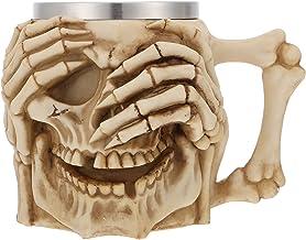 Angoily Schedel Mok Rvs Skelet Bier Mok Viking Mok Drinkbeker Mok Tea Cup Halloween Drinkware Met Handvat Voor Thuis Party...