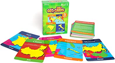 GeoToys — GeoCards World — Geography Card Games for Home, School and Travel — Learning Resources and Educational Toys — Kid Toys for Ages 4 and Up