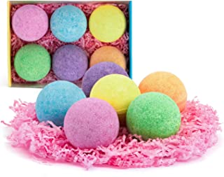 Anjou Bath Bombs Gift Set, 6 x 4.0 oz Vegan Natural Essential Oils & Dry Flowers, lush Fizzy Spa Moisturizes Dry Skin, Bub...