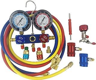 Wisepick AC Air Condition Manifold Gauge Set R410a R134a R1234yf Manifold Gauge Set Kit Auto Refrigerant Diagnostic Tool Kit