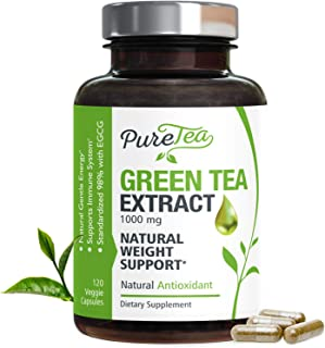 Green Tea Extract 98% with EGCG for Weight Loss 1000mg - Boost Metabolism for Healthy Heart - Antioxidants & Polyphenols f...