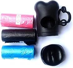 Bolsa caca perro, bolsa excremento perro, pack de 18 rollos de 15 bolsas cada uno en total 270 bolsas, 37 cm de largo por 14 cm de ancho cada bolsa, con regalo porta bolsas