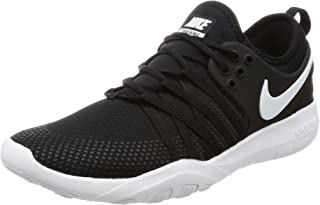 premium selection 51f23 db886 Amazon.com: Nike Free Tr Flyknit Women Round Toe Synthetic ...