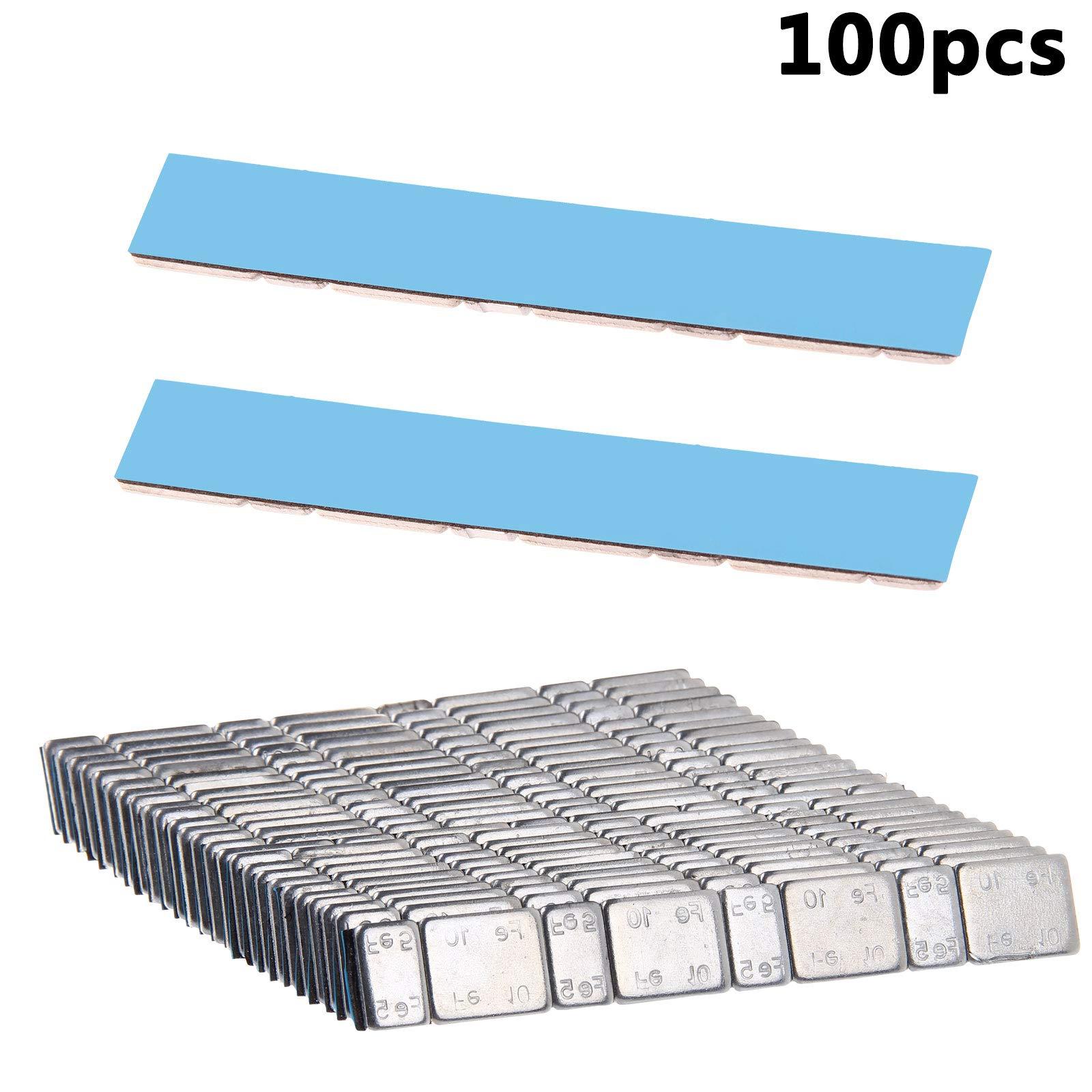 KingSaid Pack of 100 Self Adhesive Wheel Balance Weights 600g Total