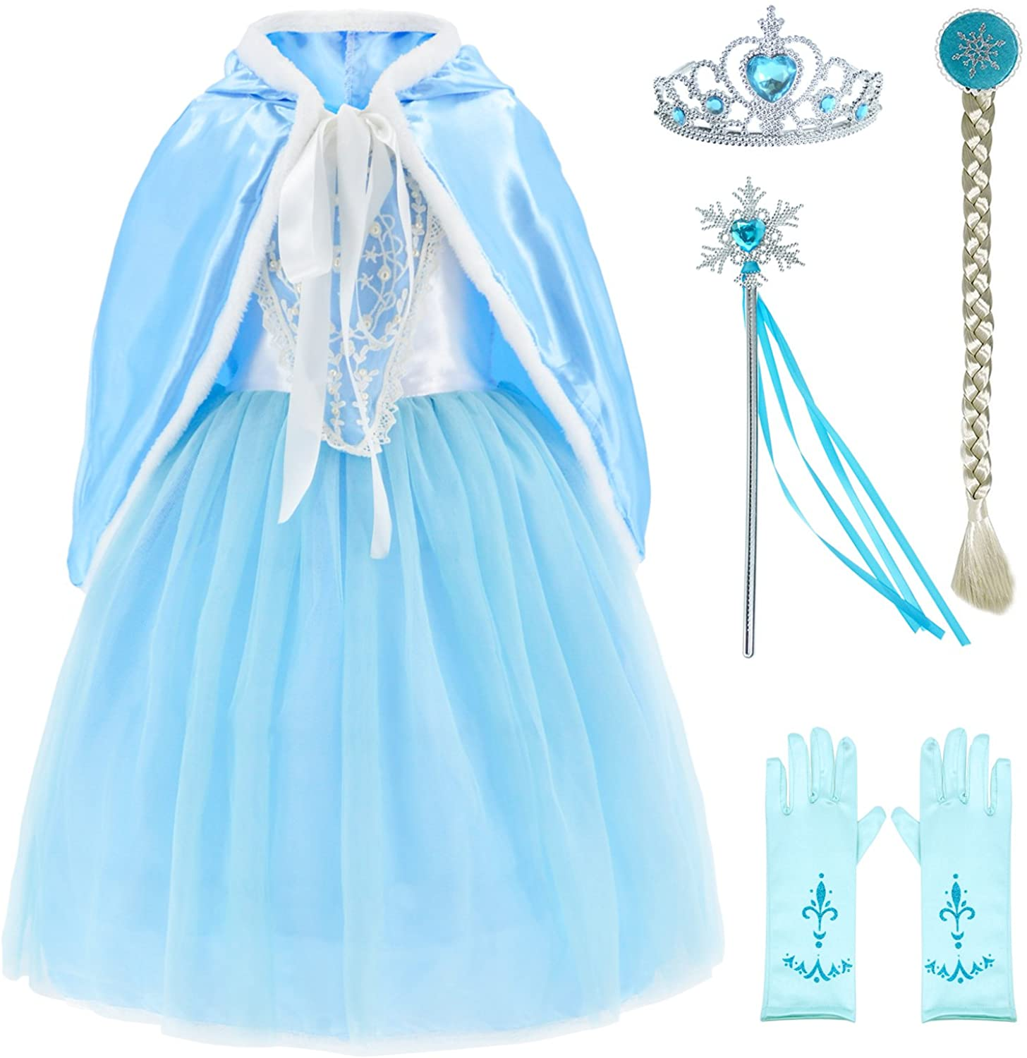 Max 88% free OFF Princess Costumes Fancy Party Birthday Li Up for Dress Christmas