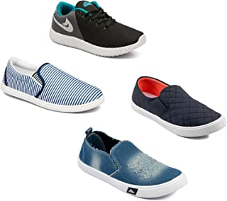 Asian Men's Casual Shoes Combo Pack of 4-0301-M627