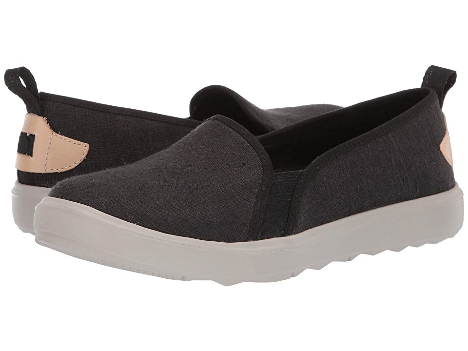 Image of Merrell Around Town Ada Moc Canvas (Black) Women's Shoes