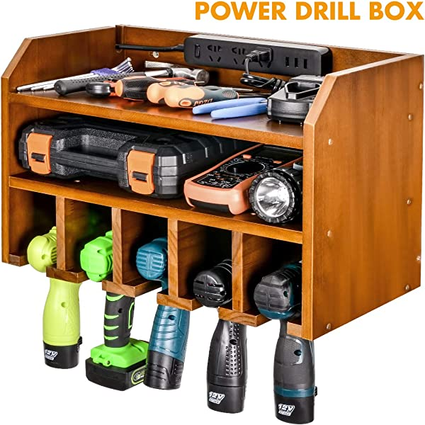 Drill Charging Station Drill Storage Wall Mounted Cordless Drill Organizer Power Tool Storage Power Drill Toolbox Screwdriver Cordless Drill Organizer Tool Parts Craft Organizer