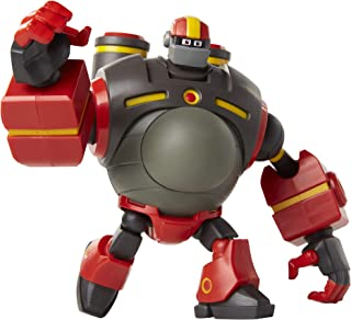Mega Man: Fully Charged – Deluxe Guts Man Articulated Action Figure with Expanding Belly and Guts Man Buster Accessory (to...
