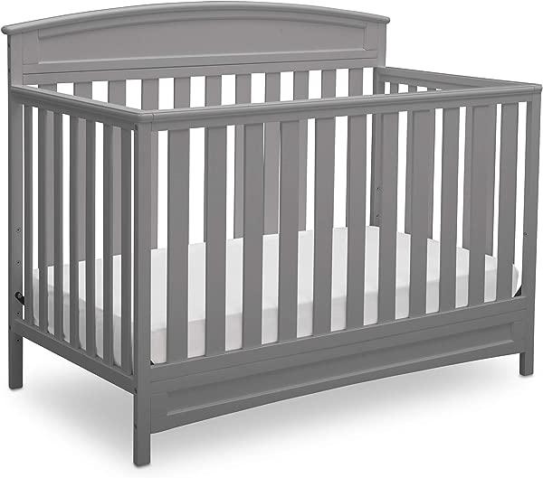 三角洲儿童萨顿月的月换股婴儿床灰色