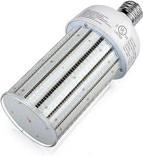 100 Watts LED Corn Light Bulb E39 Mogul Base 5,000K Daylight Retrofit Conventional Compact Fluorescent HID Low Bay High Bay Barn Porch Backyard Street Floodlight Area Fixture UL Listed DLC Approved