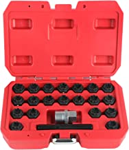 BELEY 22pcs Wheel Lock Lug Nuts Removal Set, Automotive Wheel Anti-Theft Screws Remover Socket Keys Remover Kit for Audi