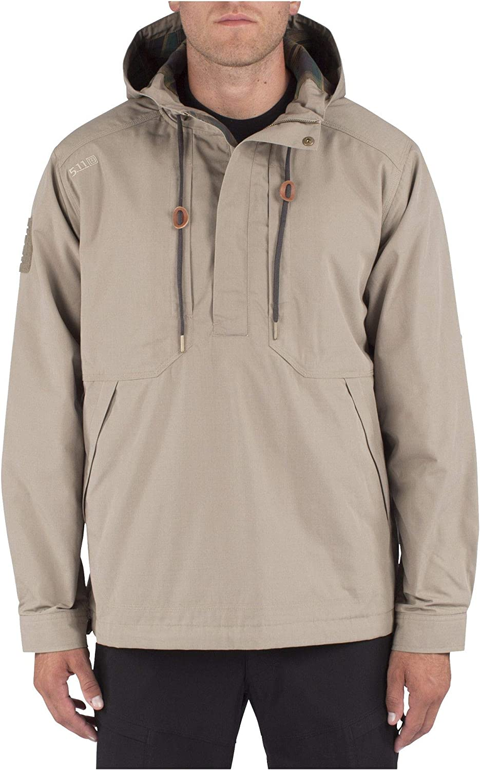 5.11 Tactical Men's Taclite Anorak Jacket, 100% Cotton Twill, Breathable Interior, Style 78012