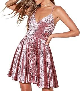 short pink skater dress
