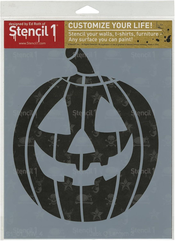 Stencil1 21,6 x 27,9 cm stencil-jack-o-lantern 2 B00UY15NGQ     | Authentisch