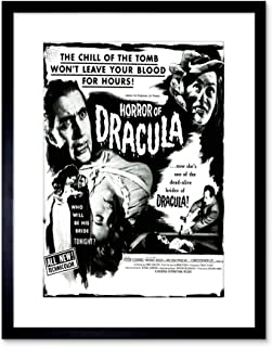 9x7 '' MOVIE FILM HORROR DRACULA CUSHING VAMPIRE USA FRAMED ART PRINT F97X542