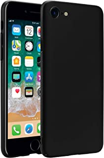RKINC Hard Plastic Ultra Thin Matte Finish Shock Resistant Scratch Resistant Case Cover for Apple iPhone 7 Iphone 8(Black)
