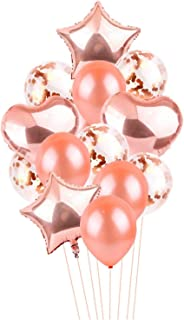 Rose Gold Party Balloons 14Pcs 1234567890 Number Balloon Column Gold Crown 1St Birthday Party Decorations Kids,14Pcs Rsg A