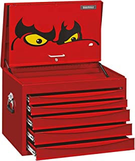 Teng Tools 5 Drawer Professional Steel Lockable Red SV Series Deep Top Box - TC805SV