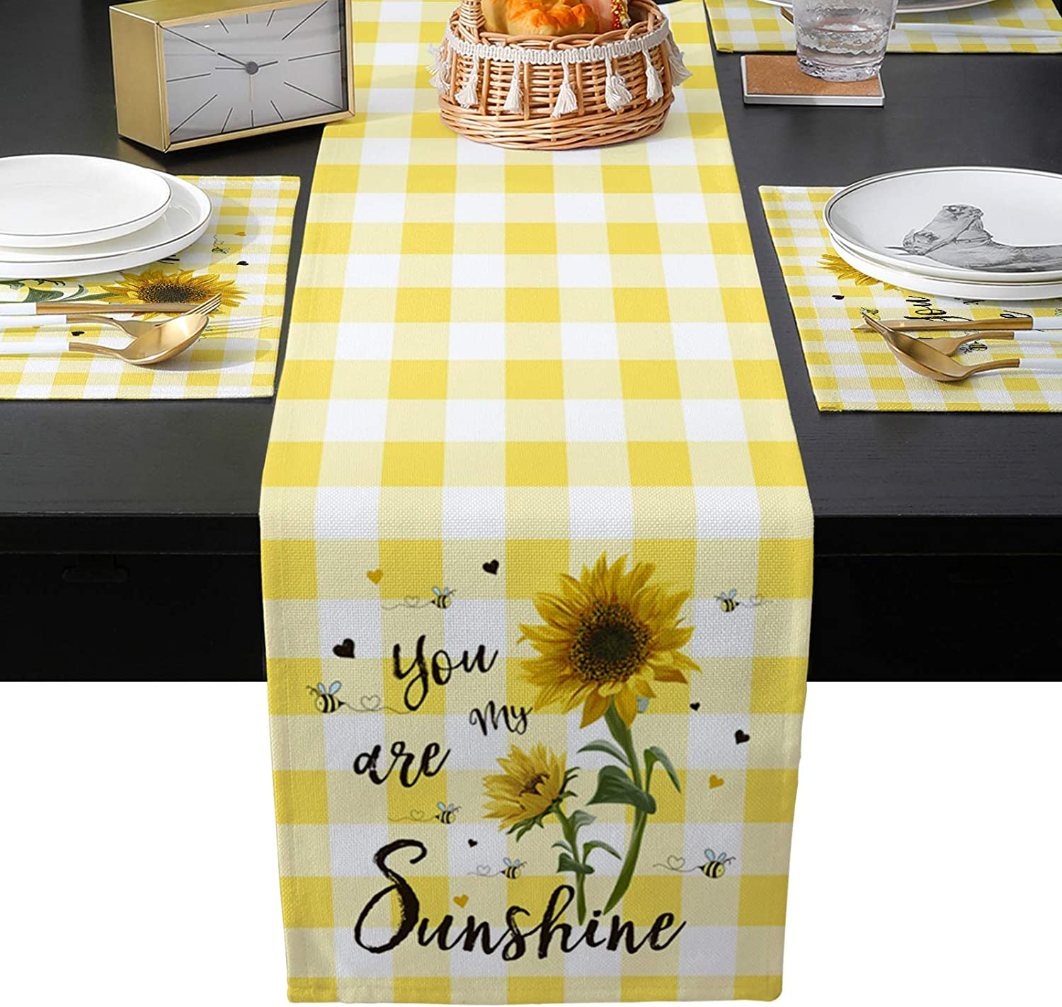 Dining Table Runner Max 76% OFF and Placemats Set of Heat Kitch Ranking TOP19 6 Insulation