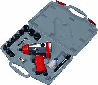 Einhell Druckluft Schlagschrauber DSS 260/2 (6,3bar max., Alu Druckguss Gehäuse, 4 f. Schlagmoment, inkl. 11 tlg. Steckschlüsselset & Transportkoffer)