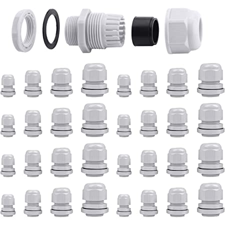 Kabelverschraubung IP68 Metrisch M12 M16 M20 M12L M16Lx1,5 mm Weiß schwarz Kabel
