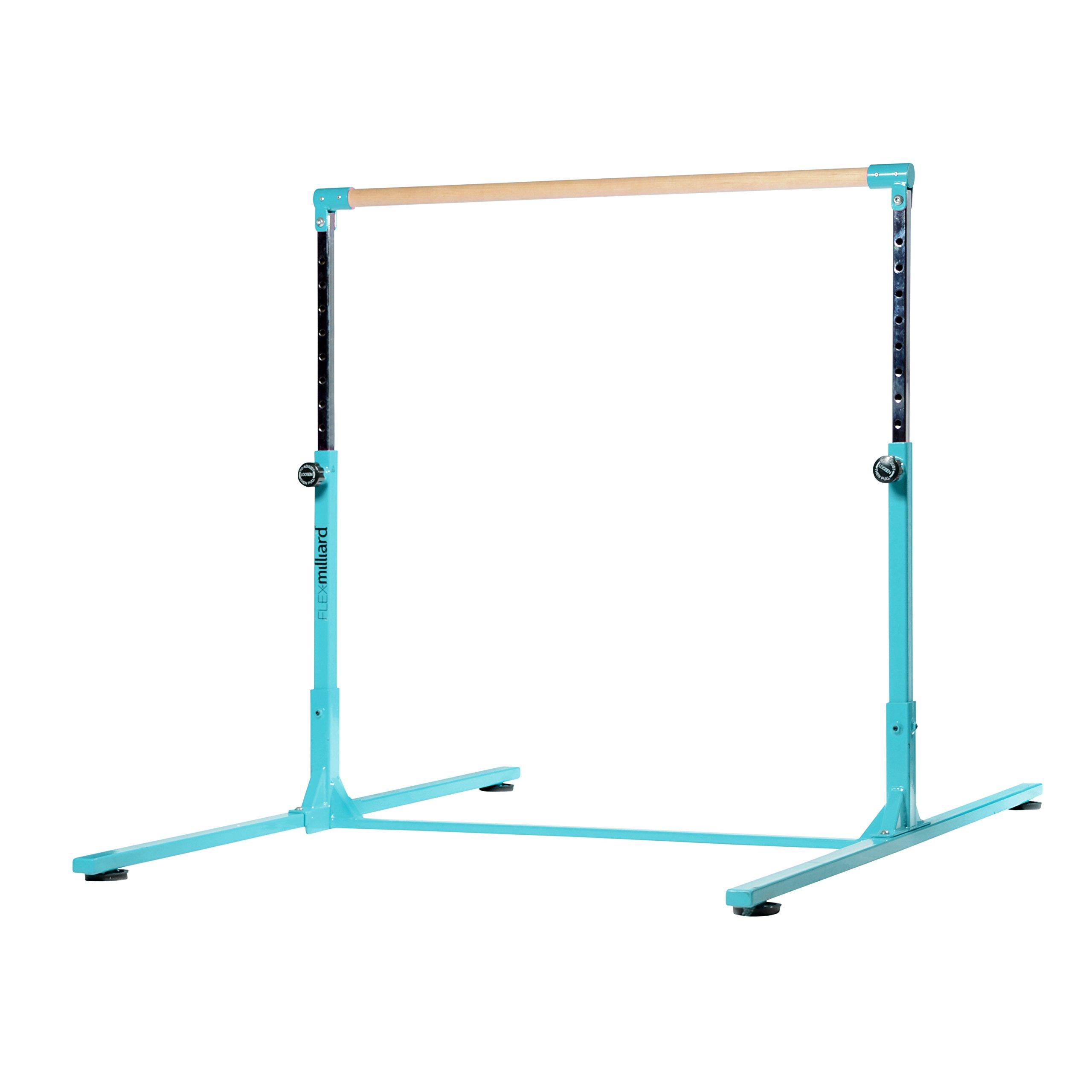 Amazon.com : Milliard Professional Gymnastics Kip Bar Height Adjustable, Bright Teal : Sports & Outdoors