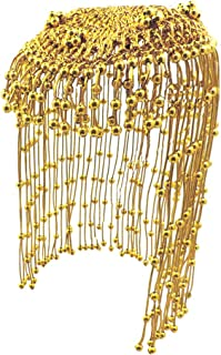 Star Power Egyptian Queen Cleopatra Gold Beaded Headdress