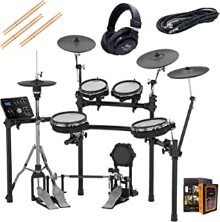 Roland PK TD-25KV-S Electronic Drum Set Package with ISK HP2000 Black Headphones, 3 Pairs of Sticks, Aux Cable, and Free Mobile Holder