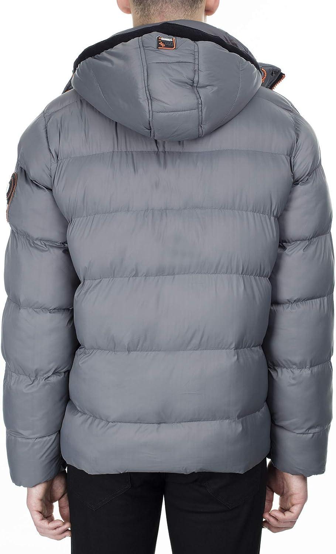Geographical Norway Citernier Gewatteerde winterjas voor heren lichtgrijs